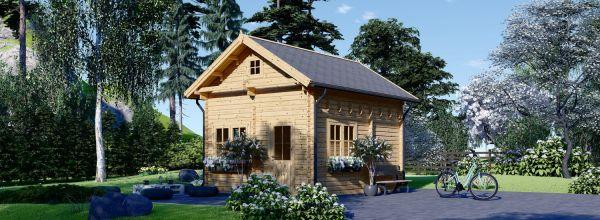 Blockbohlenhaus AVIGNON (44 mm) 5x4 m, 20 m² mit 16 m² Schlafboden