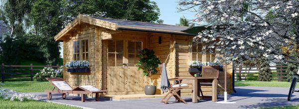 Gartenhaus aus Holz OSLO (44 mm), 5x4 m, 20 m²