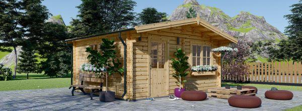 Gartenhaus aus Holz NINA (44 mm), 6x6 m, 36 m²