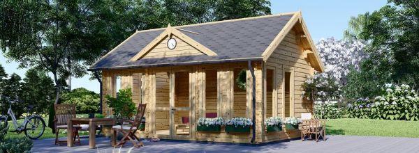 Gartenhaus aus Holz CLOCKHOUSE (44 mm), 5.5x4 m, 22 m²