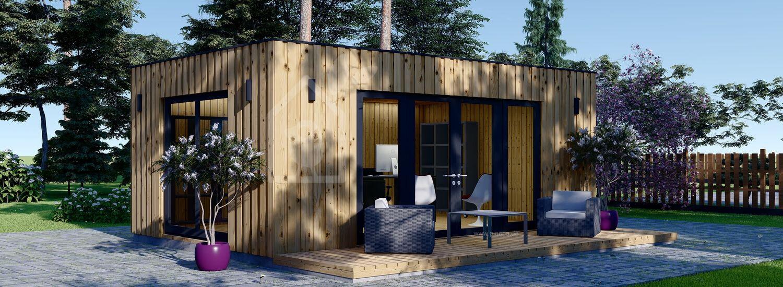 Gartenhaus als Büro PREMIUM (Isoliert, SIPS), 7x4 m, 28 m² visualization 1