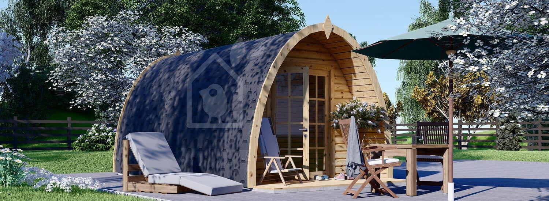 Gartenhaus aus Holz BRETA (28 mm), 3x5 m, 15 m² visualization 1