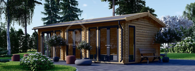Blockbohlenhaus MARION (Isoliert, 44+44 mm), 30 m² visualization 1