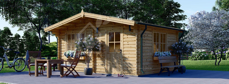 Gartenhaus aus Holz DREUX (66 mm), 5x4 m, 20 m² visualization 1
