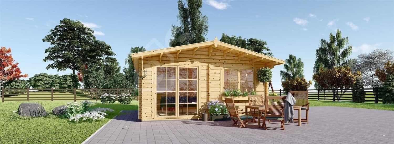 Gartenhaus aus Holz WISSOUS (34 mm), 5x4 m, 20 m² visualization 1
