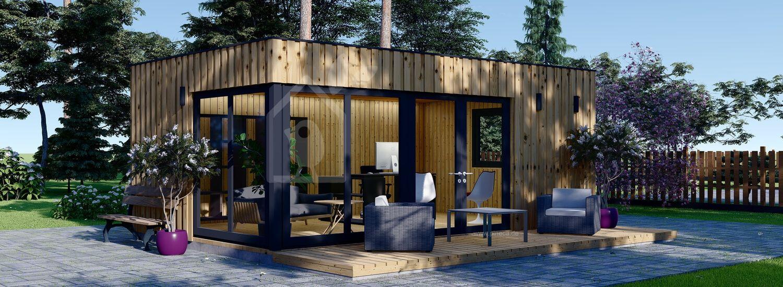 Gartenhaus als Büro PREMIUM (Isoliert, SIPS), 6x4 m, 24 m² visualization 1