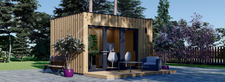 Gartenhaus als Büro PREMIUM (Isoliert, SIPS), 4.1x2.4 m, 10 m² visualization 1