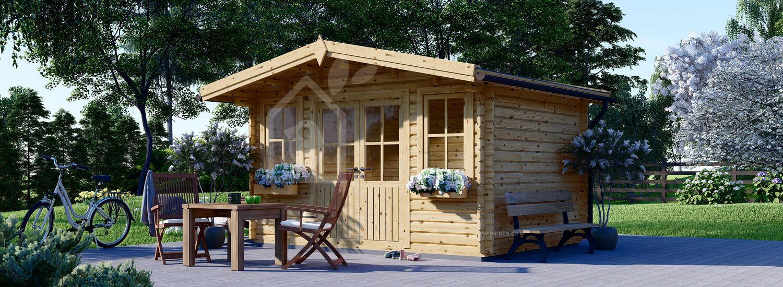 Gartenhaus aus Holz OLYMP (Isoliert, 44+44 mm), 4x3 m, 12 m² visualization 1