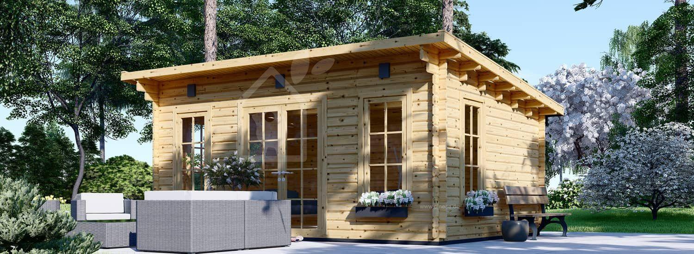 Gartenhaus aus Holz ESSEX (44 mm), 5x4 m, 20 m² visualization 1