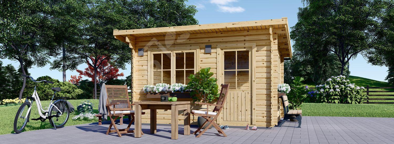 Gartenhaus aus Holz mit Flachdach DREUX (44 mm), 4x3 m, 12 m² visualization 1