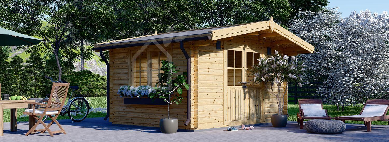 Gartenhaus aus Holz RENNES (34 mm), 4x3 m, 12 m² visualization 1