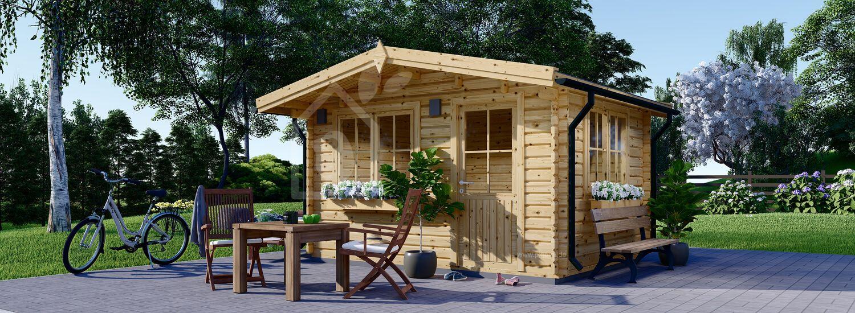 Gartenhaus aus Holz DREUX (44 mm), 4x4 m, 16 m² visualization 1