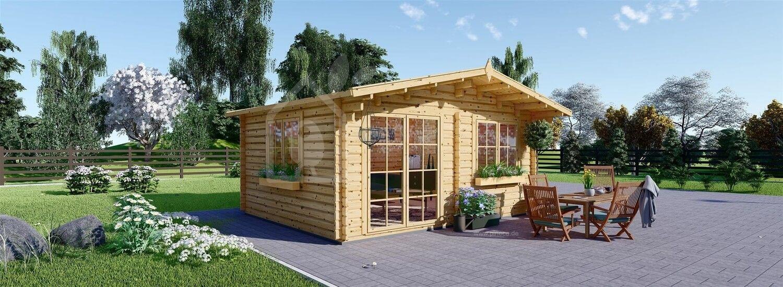 Gartenhaus aus Holz WISSOUS (Isoliert, 44+44 mm), 5x6 m, 30 m² visualization 1