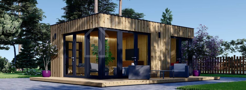 Gartenhaus PREMIUM (Isoliert, SIPS), 7.5x4 m, 30 m² visualization 1