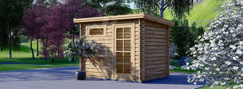 Gartenhaus aus Holz MODERN (28 mm), 3x2 m, 6 m² visualization 1