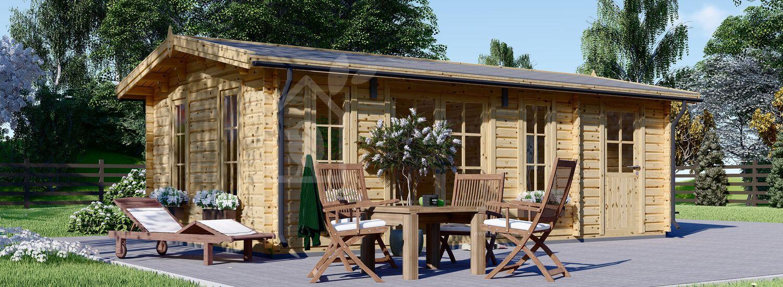 Gartenhaus aus Holz LEA (66 mm), 7x4 m, 28 m² visualization 1
