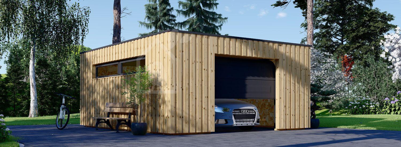 Holzgarage mit Flachdach STELA F (Elementbauweise), 5x6 m, 30 m² visualization 1