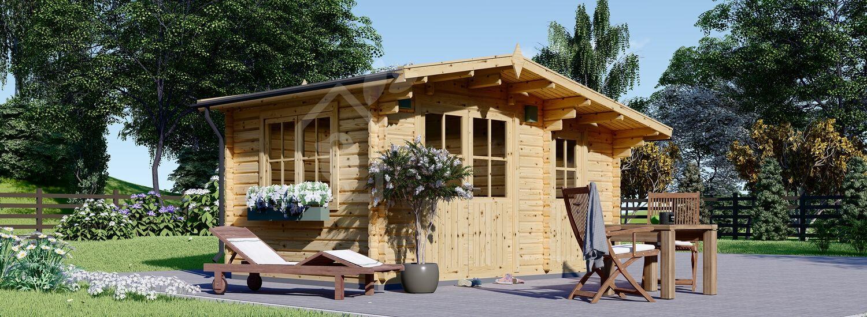 Gartenhaus aus Holz BENINGTON (34 mm), 4.5x3 m, 13 m² visualization 1