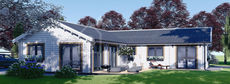 Blockbohlenhaus PAULA (66 mm), 129 m² visualization 1