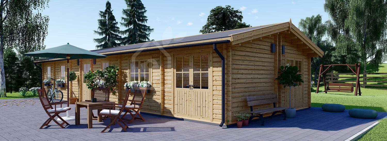Mobilheim aus Holz BRIGHTON M (Isoliert, 44+44 mm), 15x6 m, 90 m² visualization 1