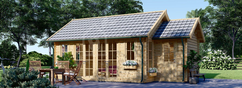 Gartenhaus aus Holz ELLA (66 mm), 7x4 m, 28 m² visualization 1