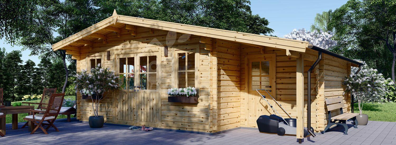 Gartenhaus aus Holz CLARA (44 mm), 7x4 m, 28 m² visualization 1