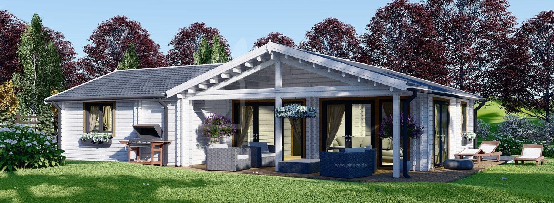 Blockbohlenhaus ADELE (44+44 mm), 68 m² visualization 1