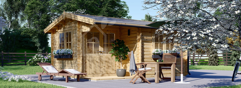 Gartenhaus aus Holz OSLO (44 mm), 5x4 m, 20 m² visualization 1