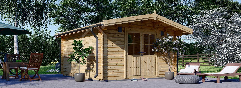 Gartenhaus aus Holz PALMA (34 mm), 4x4 m, 16 m² visualization 1