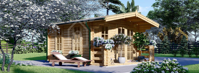 Gartenhaus aus Holz KING (44 mm), 4x5 m, 20 m² visualization 1