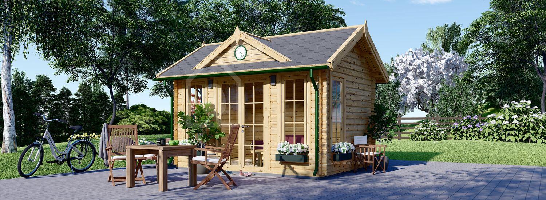 Gartenhaus aus Holz CLOCKHOUSE (44 mm), 4x3 m, 12 m² visualization 1