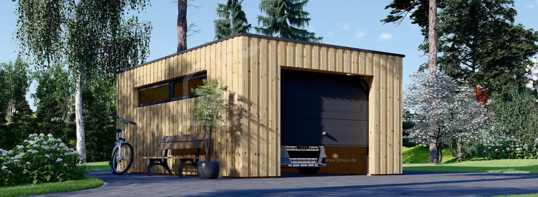 Holzgarage mit Flachdach STELA F (Elementbauweise), 3.2x5.2 m, 16.6 m² visualization 1