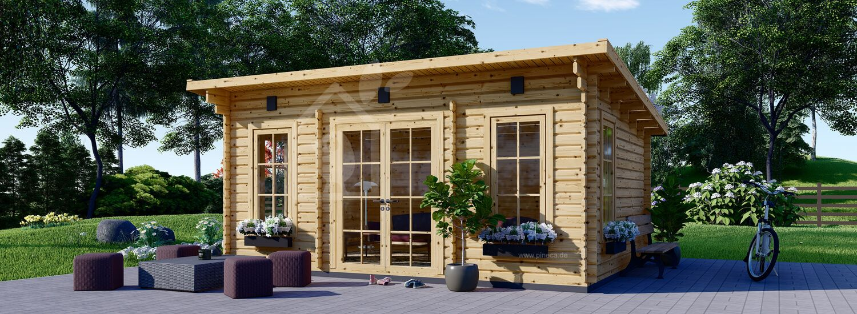 Gartenhaus aus Holz ESSEX (Isoliert, 44+44 mm), 5x4 m, 20 m² visualization 1