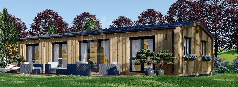Mobilheim aus Holz NICOLE M (44 mm + Holzverschalung), 12.7x6.2 m, 78 m² visualization 1