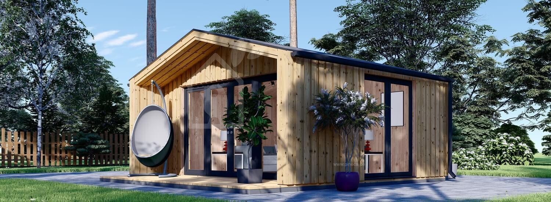 Gartenhaus aus Holz PIA (Elementbauweise), 5.2x4.9 m, 18 m² visualization 1