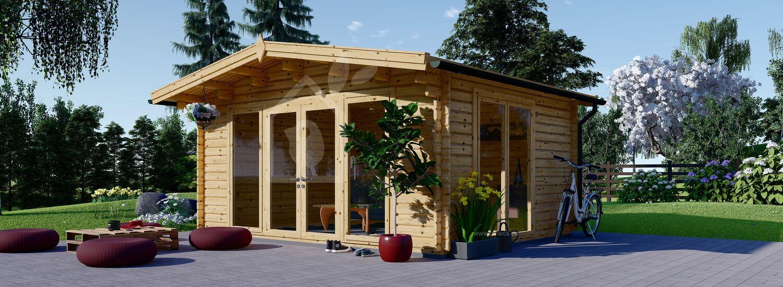 Gartenhaus aus Holz MARTA (44 mm), 5x4 m, 20 m² visualization 1