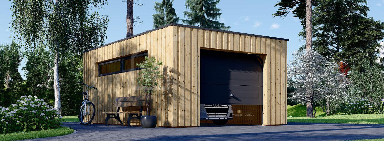 Holzgarage mit Flachdach STELA F (Elementbauweise), 4x6 m, 24 m² visualization 1