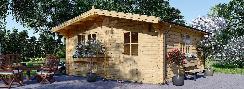 Gartenhaus aus Holz DREUX (44 mm), 5x5 m, 25 m² visualization 1