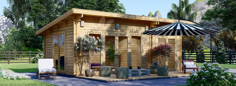 Gartenhaus aus Holz MAJA (44 mm), 7.5x4 m, 30 m² visualization 1