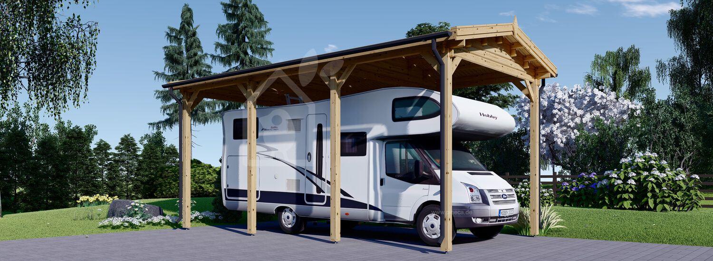 Carport aus Holz für Wohnmobil, 3.5x7 m visualization 1