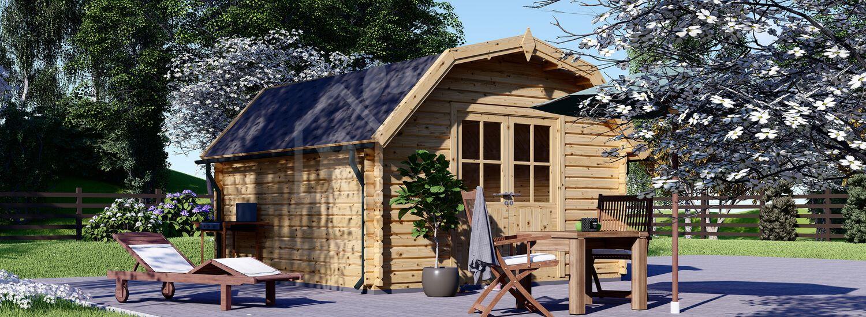 Gartenhaus aus Holz ORLANDO (34 mm), 4x4 m, 16 m² visualization 1