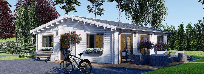 Blockbohlenhaus ALICE (44+44 mm), 72 m² visualization 1