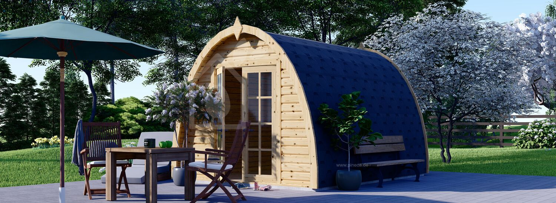 Gartenhaus aus Holz BRETA (28 mm) 3x4 m, 12 m² visualization 1