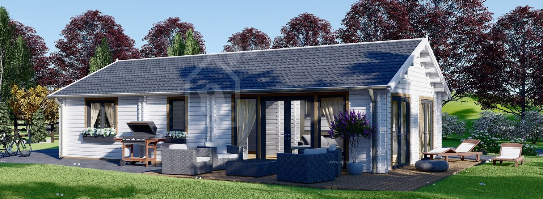 Blockbohlenhaus ANICA (Isoliert, 44+44 mm), 71 m² visualization 1
