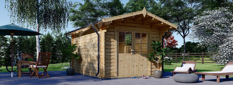 Gartenhaus aus Holz PETER (34 mm), 3x3 m, 9 m² visualization 1