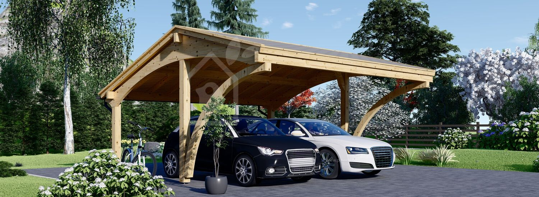 Doppelcarport aus Holz CORA DUO, 6x6 m visualization 1