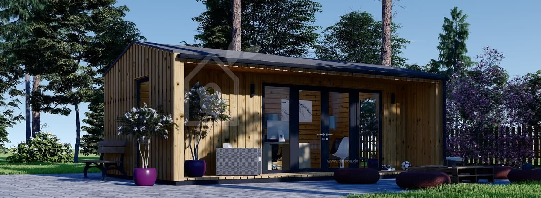 Gartenhaus als Büro TINA (Isoliert, 44 mm + Holzverschalung), 7x4 m, 20 m² visualization 1
