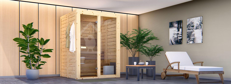 Innensauna LENE 18A, 156x156x212 cm, 1.8 m² visualization 1