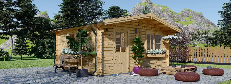 Gartenhaus aus Holz NINA (44 mm), 6x6 m, 36 m² visualization 1