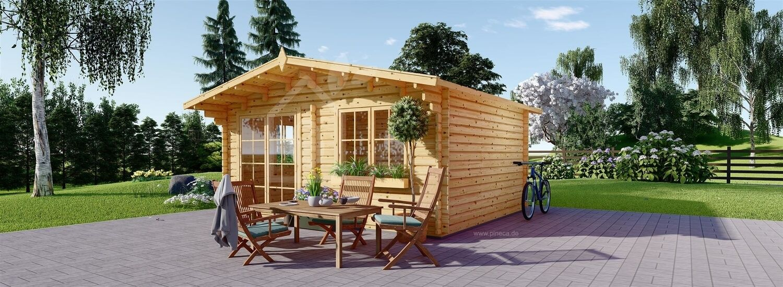 Gartenhaus aus Holz WISSOUS (34 mm), 5x5 m, 25 m² visualization 1